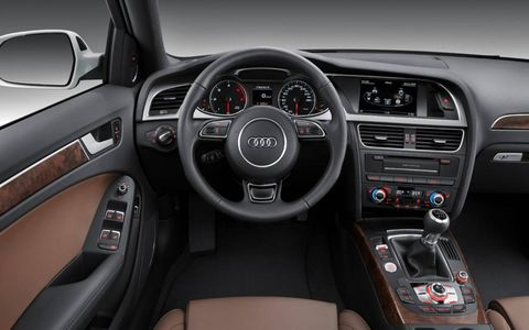 Audi added upgraded materials to the interior of the 2012 A4.