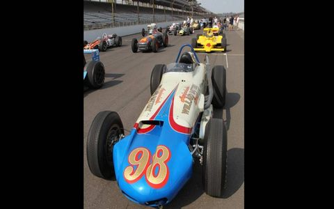 "Parnelli Jones drove ""Calhoun"" past 150 mph in 1963."