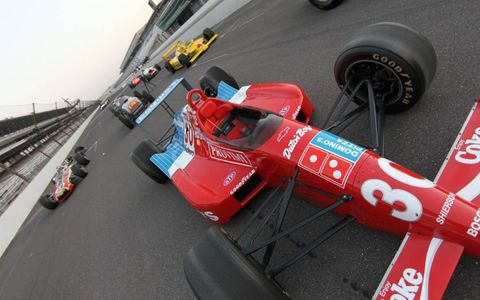 The Domino's Pizza/Shierson Lola-Chevy took Arie Luyendyk to the win in 1990.