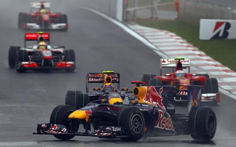 Vettel, Webber, Alonso, Hamilton and Massa.