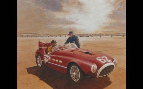 Carroll Shelby Palm Springs Ferrari by Bill Neale