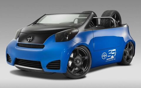 Cartel's Pit Boss will be used as a pit car at Scion's drifting events throughout 2012. The speedster body can be raised or lowered to dramatic effect by the onboard AccuAir system. Look for the great Steph Papadakis to cruise in it next year.
