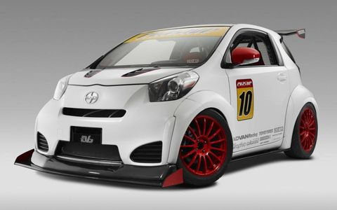 The EVS iQ RS looked ready to enter the World Rally Championship with a massive aero package smoothly integrated onto a body bulging with swoopy fender wells wrapped around a race-ready chassis.