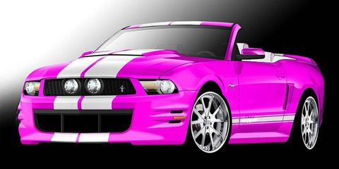 Creations n' Chrome is teaming up with the American Cancer Society to raise awareness for breast cancer with its Mustang GT convertible covered in pink chrome.