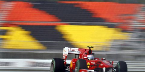 Practice made Ferrari star Fernando Alonso perfect come race day in Korea. After running in the dry on Friday (shown) and Saturday, Alonso adapted to the wet race-day conditions, never put a wheel wrong and took command of the championship.