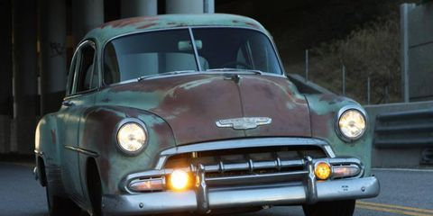 The 1952 Chevy from Icon retains its weathered look.
