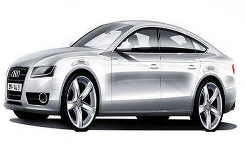 Sketch of the Audi A5 Sportback