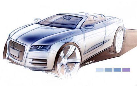 Sketch of the Audi A5 Cabrio