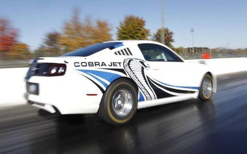 The Ford Mustang Cobra Jet concept is at home on the strip.