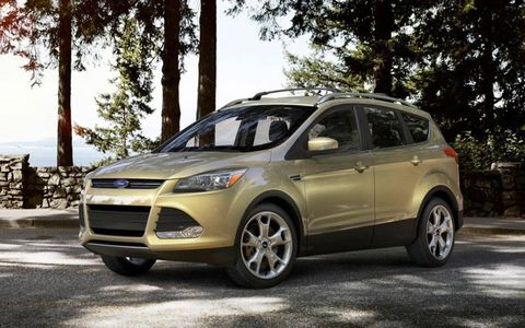 The 2013 Ford Escape Titanium is underpinned by Ford's C-platform, which is the basis of the Focus and C-Max.