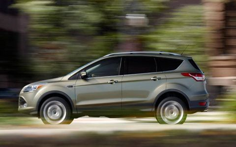 The 2013 Ford Escape Titanium is a smooth ride, with good steering response and reasonable body control that make it borderline fun to drive.
