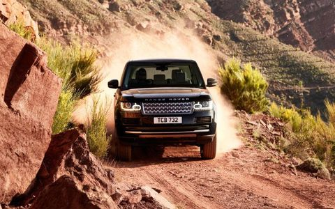 The 2013 Range Rover is lighter than its predecessor. Its suspension (double wishbone in front, multilink in rear) provides plenty of travel for offroading but limits body roll.