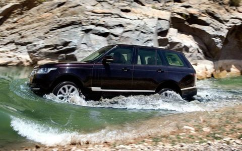 The 2013 Range Rover crossed sand, rocks and through mini rivers without missing a beat.