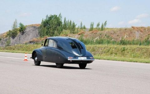 The Tatra 87 looks fast standing still, so it must look even better in motion.