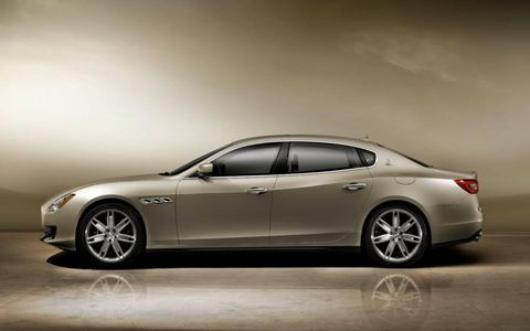 The Quattroporte is over 17 feet from nose to tail.