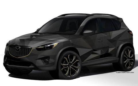 The Mazda CX-5 Urban concept for SEMA has a unique paint job.