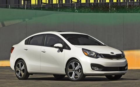 The Kia Rio is powered by a 1.6-liter I4 making 138 hp and 123 lb-ft of torque.