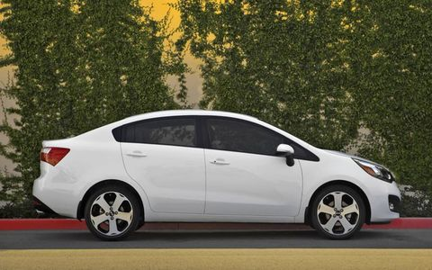 Fuel-economy numbers for the Rio are 28 mpg in the city and 36 mpg on the highway.