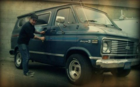 Dirty Donny Gillies and his personal custom Chevy Van