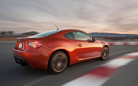 The FR-S responds quickly to both power and steering inputs.