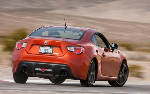 There are small exterior details that help differentiate the FR-S from the BRZ, like the bumpers, badges and wheels.
