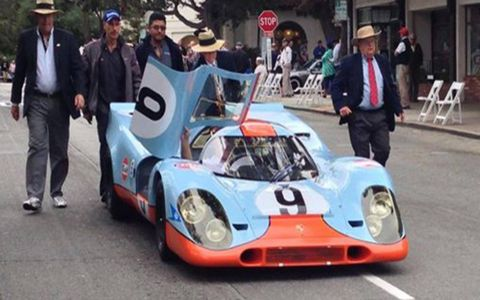 The winning 917 arrives the morning of the Concours.
