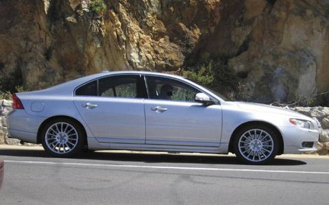 Images of the all-new Volvo S80 luxury liner were captured on location in South Africa as it was prepped for a commercial. This elegantly styled S80, which carries the flowing rear lines of its S60 sister, has front- and all-wheel-drive versions. It will debut at the Geneva show in March.