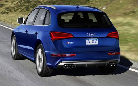 The 2014 Audi SQ5 is fitted with the quattro all-wheel-drive system.