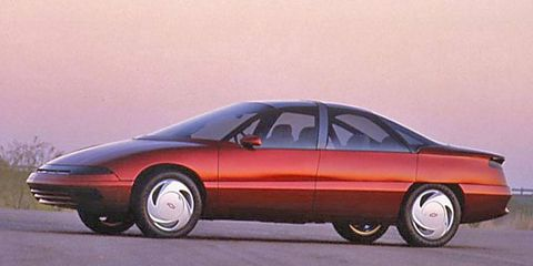 Design elements from the 1988 Chevrolet Venture concept would appear in GM's lineup of production cars in the early 1990s.