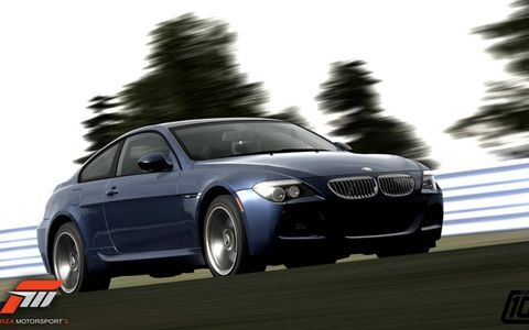 The BMW M6 is included in the AutoWeek Car Show Pack for Forza Motorsport 3.