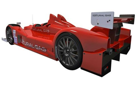 The Oreca FLM09 that will be powered by natural gas.