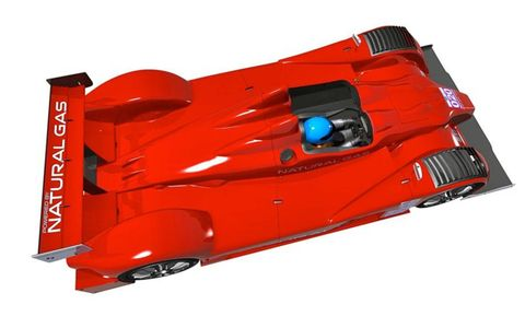 The Oreca FLM09 that Patrick Racing plans to run in the combined Grand-Am/ALMS Series.