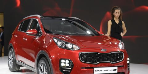 The 2017 Sportage is shown here in European spec and will be shown to the public at the 2016 Frankfurt Motor Show.