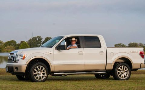 President Bush in his 2009 Ford F-150.