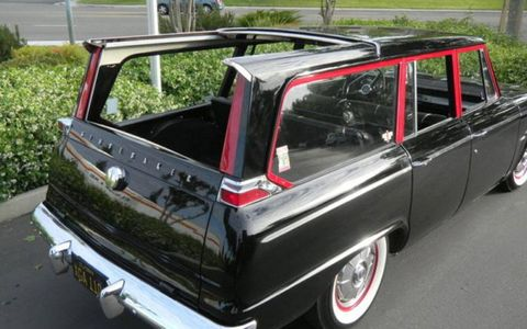 With its sliding rear roof open, the 1965 Studebaker Wagonaire Deluxe allows for open-air cruising.