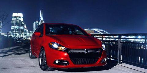 The 2013 Dodge Dart GT carries a 2.4-liter, 184-hp Tigershark engine.
