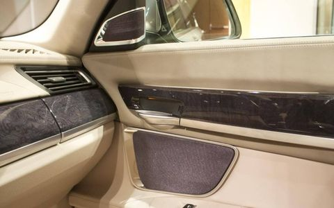 Speakers are integrated into the BMW 7-Series demonstrator.