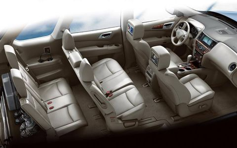 The 2013 Nissan Pathfinder has three rows of seats.
