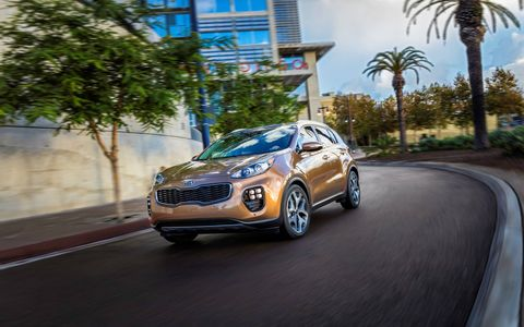 As a result of the increased exterior dimensions and clever packaging in the 2017 Kia Sportage, interior dimensions have grown. Headroom and legroom have both increased while cargo capacity behind the second row went from 26.1 cu.-ft. to 30.7.