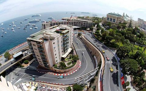 A large portion of the principality can be seen in this shot taken during the Monaco Grand Prix in May 2005.