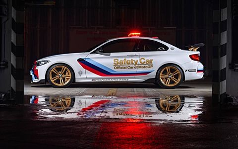 Moto GP's newest safety car is the BMW M2.