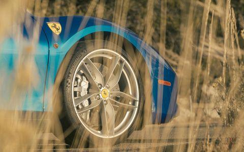 The 2017 Ferrari 488 Spider has a 3.9-liter V8 making 661 hp and 561 lb-ft of torque. It lives for desert runs.