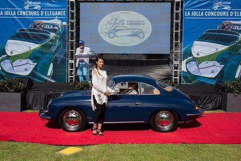 Class 10B winner Robert deRose 1964 Porsche SC 356