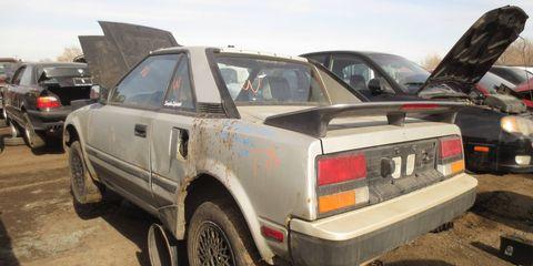 1985 Toyota MR2 in Denver self-service wrecking yard