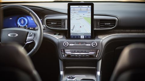 The 2020 Ford Explorer has a host of interior upgrades, like a 10.1-inch touchscreen, acoustic glass and active noise canceling.
