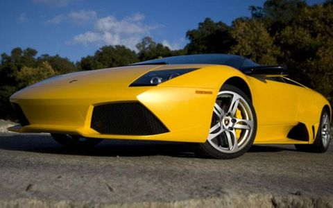 The Lamborghini Murciélago LP640 was already outrageous enough, but the LP640 Roadster - sporting the same svelte body and powertrain but no roof - is utterly incredible.Coupled via all-wheel drive and a six-speed E-gear semi-automatic transaxle, the 640 hp V12 propells the LP640 to 60 mph in 3.4 seconds and blows wind through your hair at speeds up to 204 mph.