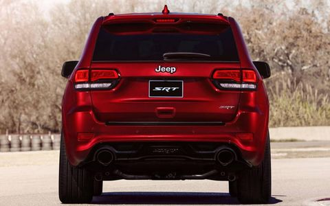 Larger taillights and a more aerodynamic spoiler are added to the 2014 Jeep Grand Cherokee SRT.