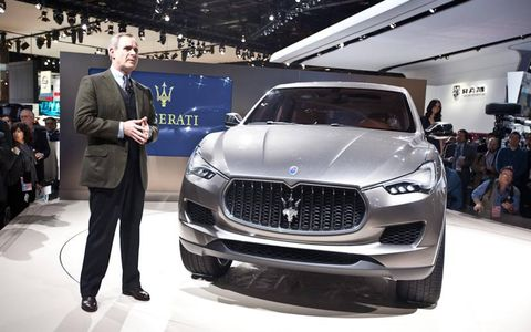 Maserati CEO Harald Wester unveils the Kubang concept for the first time in North America