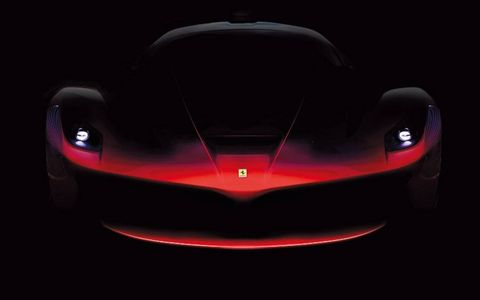 Ferrari has released a series of images that reveal just a bit more of its upcoming Enzo successor. This image confirms what was seen in the official Ferrari magazine last year.