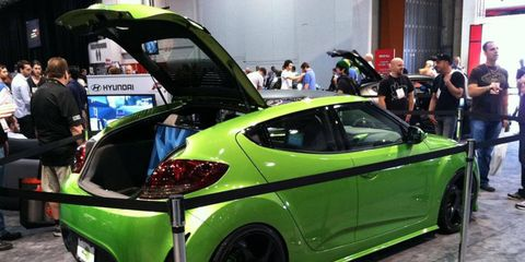 Hyundai dropped an Xbox 360 in the back of the Veloster